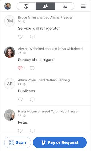 venmo public transaction feed