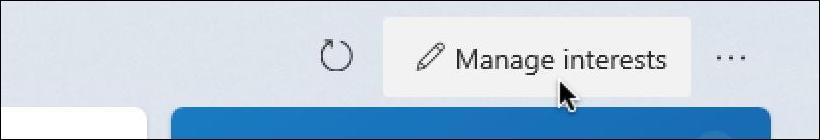 win10 taskbar - weather widget - manage interests