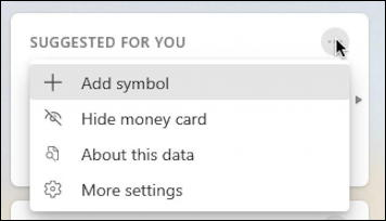 win10 taskbar - weather widget - money card