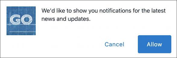 website notification confirmation window - gofatherhood