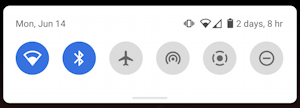 android quick settings - mini window row icons shortcuts