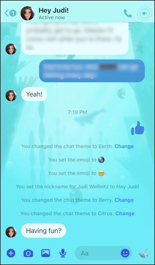 facebook messenger - ocean theme