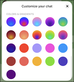facebook messenger - color themes