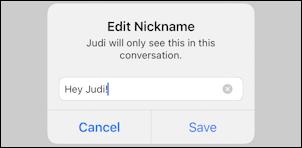 facebook messenger - change name nickname