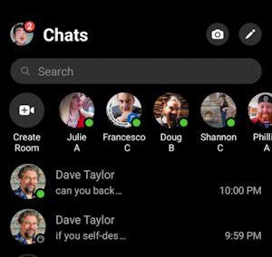 facebook messenger - two chats, one secret