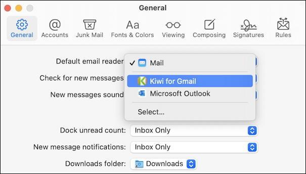 default email program - apple mail - mac macos
