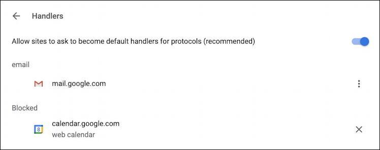 google chrome handler settings - gmail