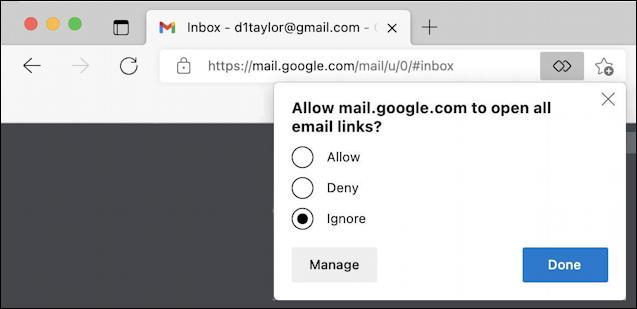 set gmail default mailto handler microsoft edge