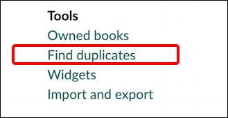 goodreads - find duplicates