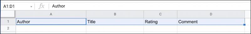 google sheets spreadsheet formatting 101 basics - four cells selected