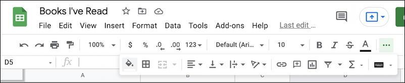 google sheets spreadsheet formatting 101 basics - all icons toolbar