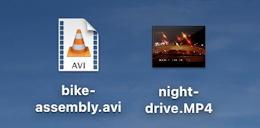 mac macos - convert avi to mp4 m4v - file icons