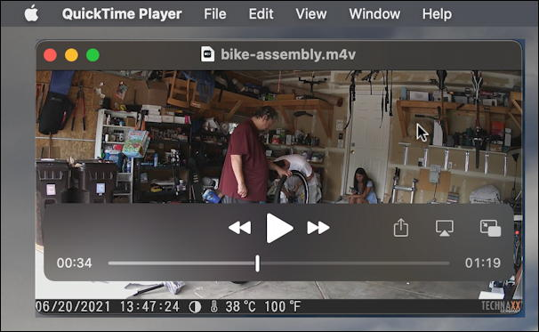 mac macos - convert avi to mp4 m4v - playing in quicktime player