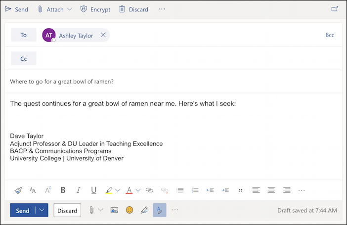 how to add inline picture photo - outlook email - compose