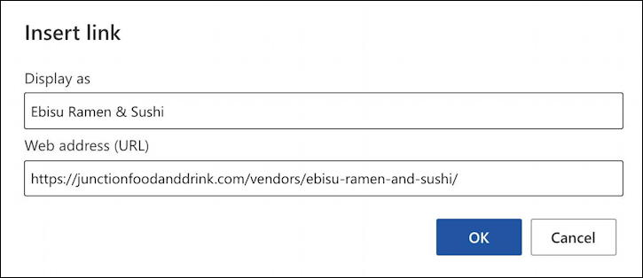how to add hyperlink web url link - outlook email - add web link