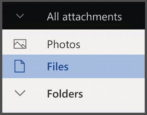 browse outlook.com online email attachments files photos - how to