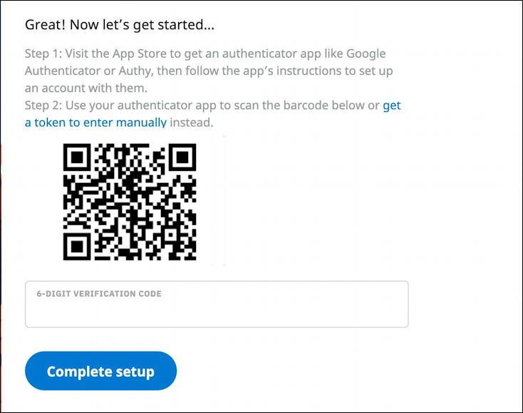 reddit - set up 2fa - scan qr code