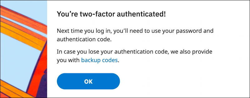 reddit - you're two factor authenticated setup security