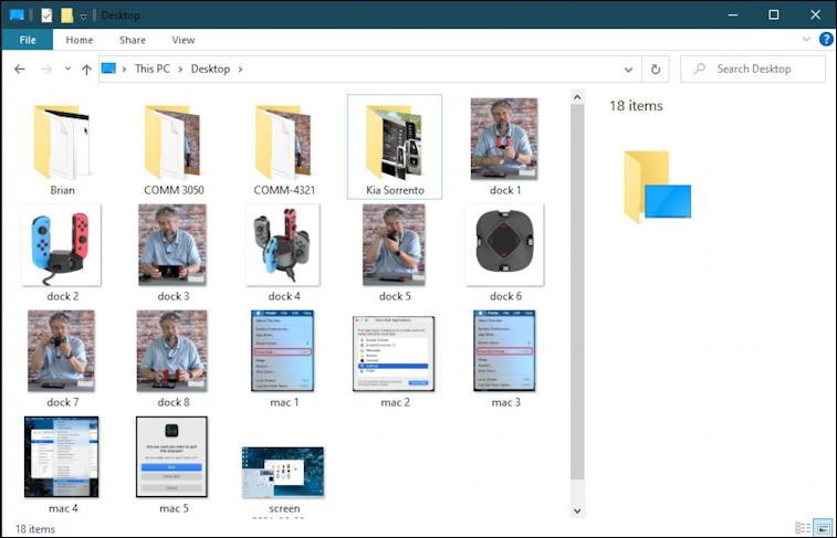 windows 10 pc - file explorer desktop