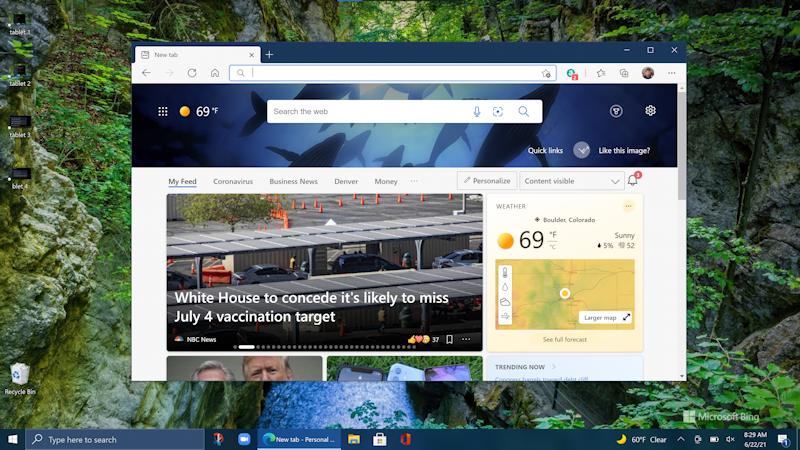 win10 tablet mode - in pc mode full screen desktop