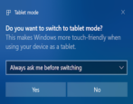 windows 10 tablet mode controls settings options - all about