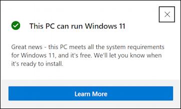 win11 pc health check app - windows 11 compatible? gateway can run windows 11