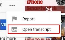 youtube auto transcript - open transcript