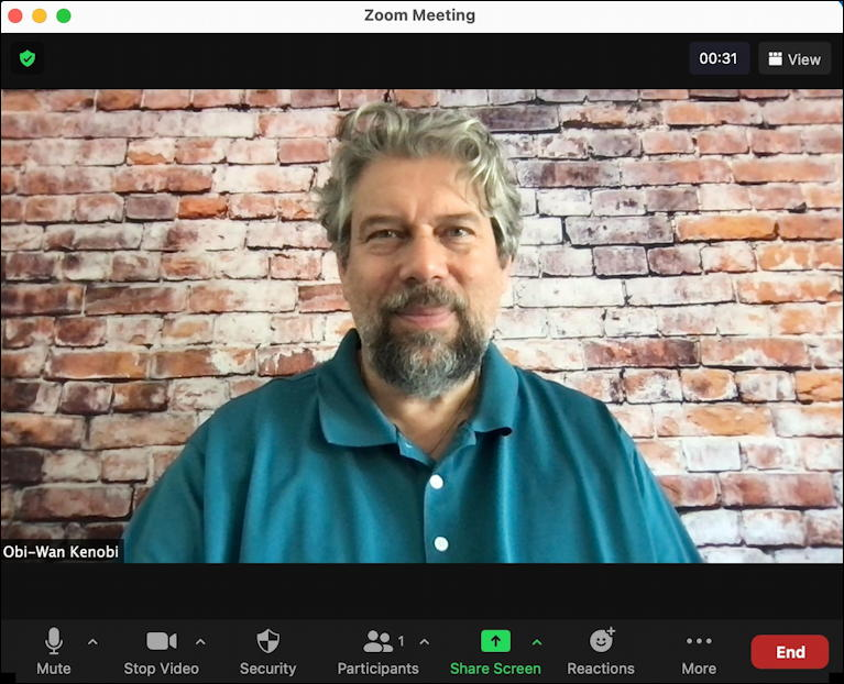 zoom mac - main window - live video stream dave taylor
