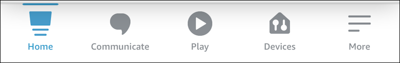 amazon alexa - change voice male female - app - toolbar bottom