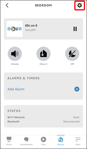 amazon alexa - change voice male female - app - specific device details