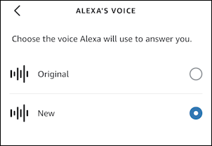 amazon alexa echo - change voice - male female man woman voices