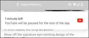 android app time limit almost reached digital wellness