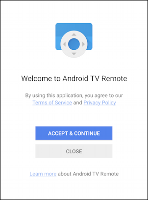 welcome to android tv remote app phone