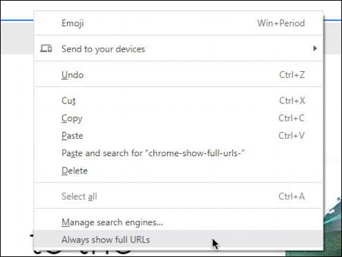 google chrome windows - show full urls