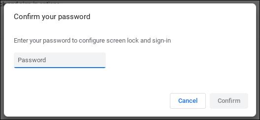 chromebook chromeos - verify google password account