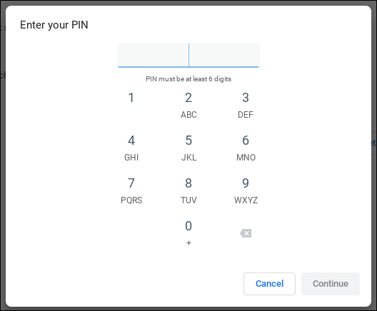 chromebook chromeos - enter login sign-in pin number code sequence
