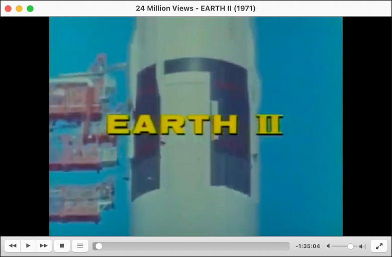 vlc download save youtube video - viewing 'earth ii 1971' in VLC