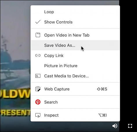microsoft edge playing youtube googlevideo.com video - save video as