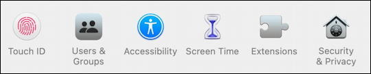 macos 11 - system preferences - screen time