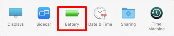 battery system preference - macos 11