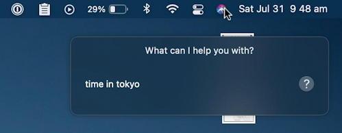 mac macos 11 - type to siri - time in tokyo?
