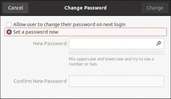 ubuntu linux - remove disable user account - change password