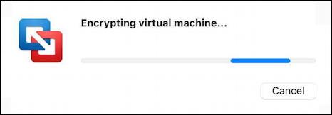 vmware fusion vm - encryption encrypting virtual machine