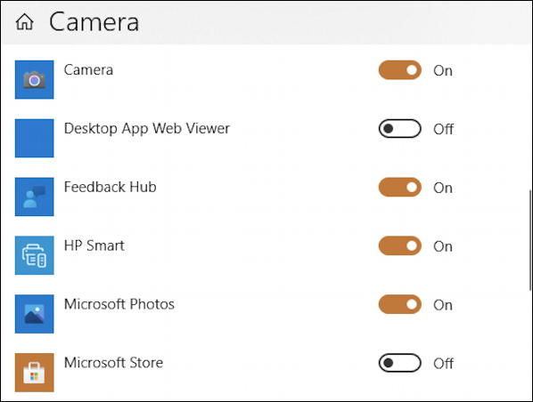 apps that can access webcam camera windows win10