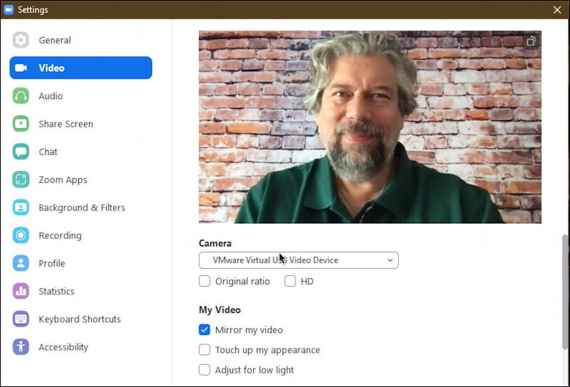 zoom pc windows settings - video