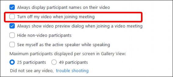 zoom pc windows settings - video - default settings