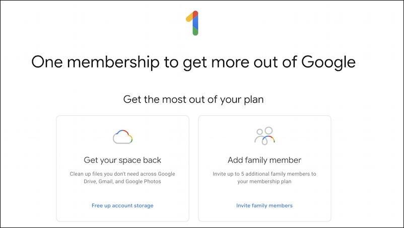 google one home screen - add family member