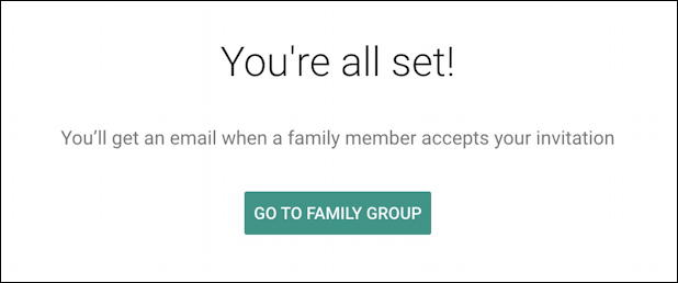 google one home screen - add family member - invitation sent