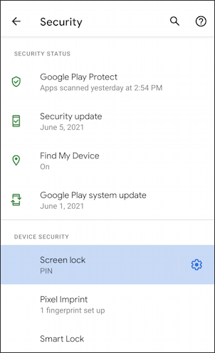 android change login to pattern security - settings - screen lock