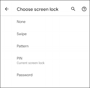 android change login to pattern security - settings - options